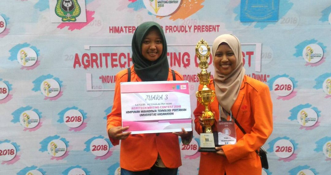 Manajemen Rekayasa UISI Ukir Kejuaraan Nasional Agritech Writing Contest 2018