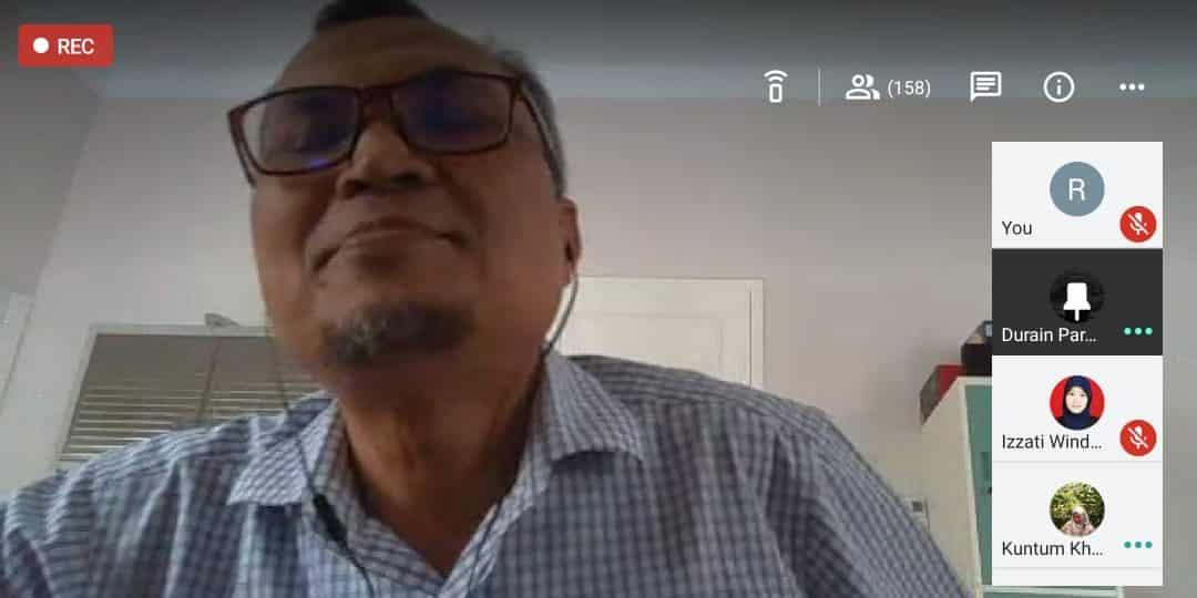 Dari Google Hangout Meet, Manajemen Rekayasa Adakan Kuliah Tamu dengan General Manager PT. Solusi Bangun Andalas, Lhoknga Plant